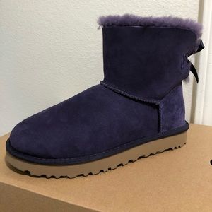 Ugg Mini Bailey Bow II Women Ankle Boots Size 8